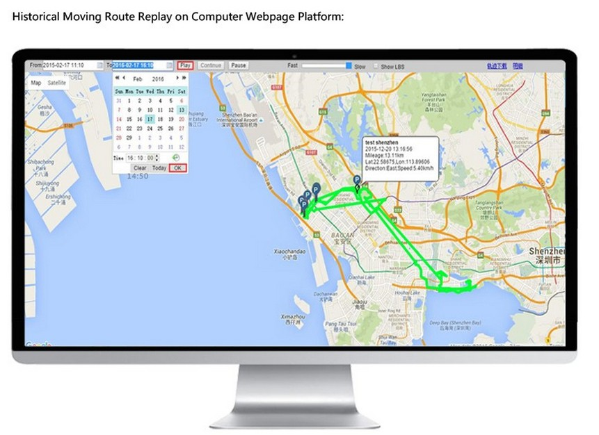 One-Year stand-by time GPS tracking